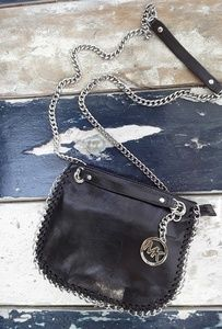 Michael Kors Leather and Silver Chain Bag